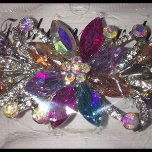 Accessories - Multicolor rhinestones barrette